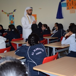 E-Crime & Cyber Bullying Orientation from Dubai Police, Grade 5-7 Girls